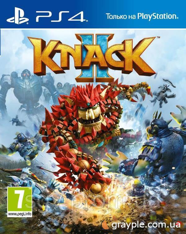 Игра Knack 2 для PS4 (Blu-ray, Russian version) для PS4