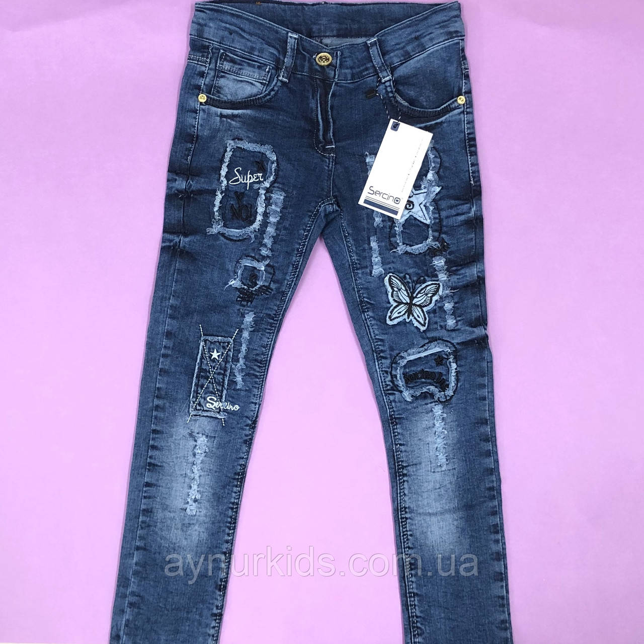 a887b7bac4c55 Стильные джинсы для девочки 9-11-12 лет , цена 265 грн., купить в ...
