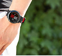 Amazfit Pace / Stratos / Stratos 2 Ремешок Black with red для смарт часов, ширина - 22 мм., фото 4