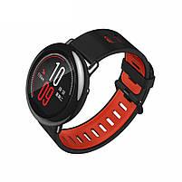 Amazfit Pace / Stratos / Stratos 2 Ремешок Black with red для смарт часов, ширина - 22 мм., фото 2