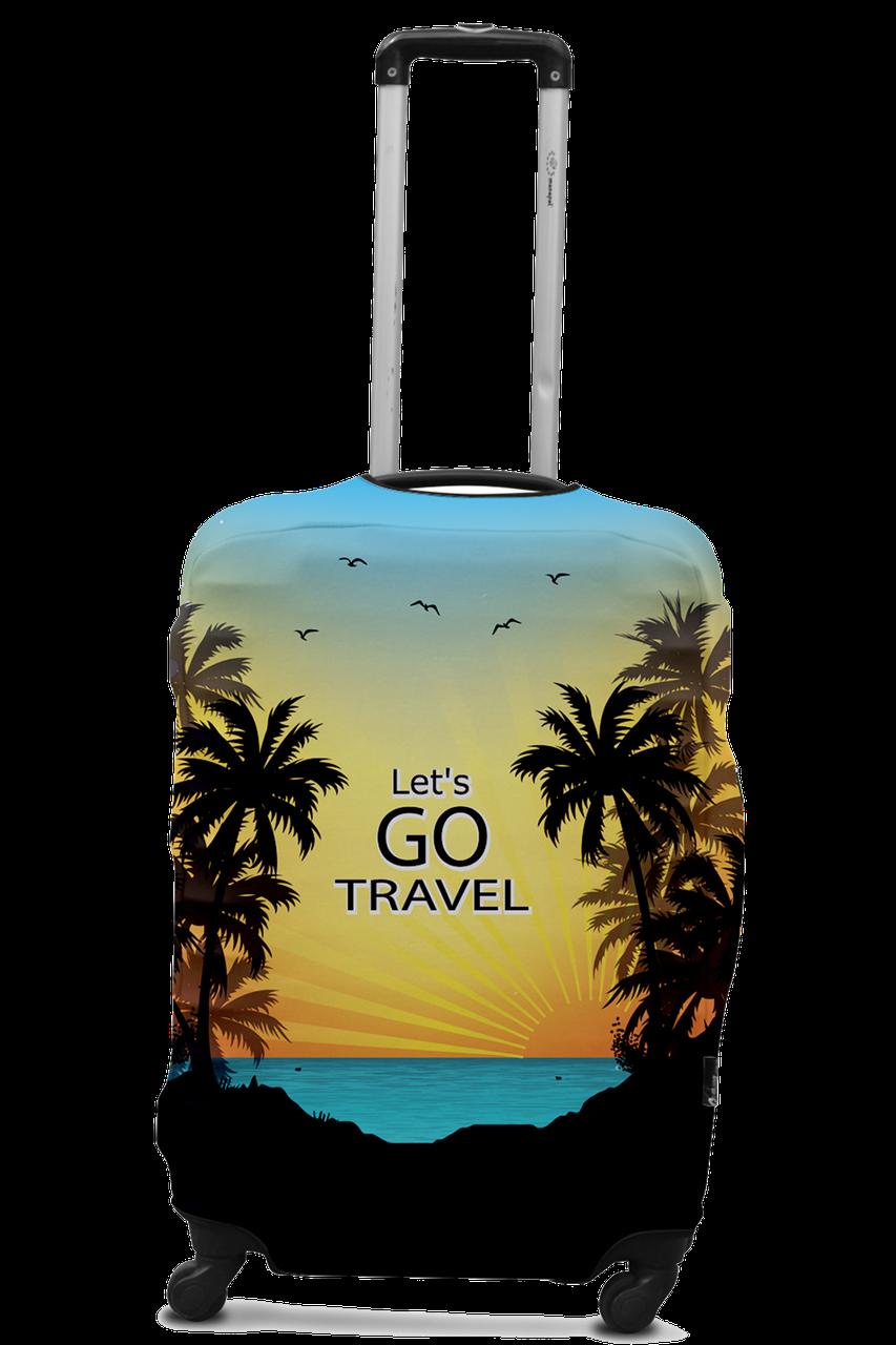 Чехол для чемодана Coverbag Lets Go L принт 0426