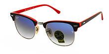 Сонцезахисні окуляри скло Ray Ban з червоними дужками