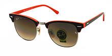 Стеклянные очки от солнца 2019 Ray Ban Clubmaster