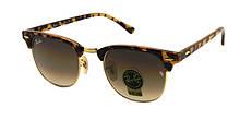 Стеклянные очки Ray Ban броулайнеры в леопардовой оправе