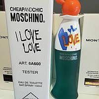 Тестер без крышечки духи женские Moschino I Love Love, фото 1