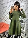 Замшевое платье миди с пышной юбкой 34py2398, фото 3