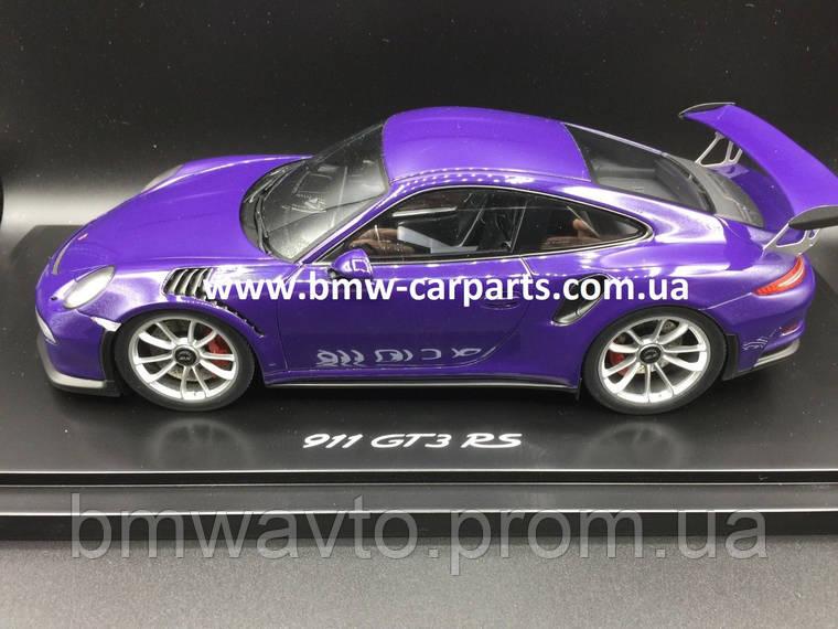 Модель автомобиля Porsche 911 GT3 RS 1:18, Purple, Limited Ed. 911 ex., фото 2