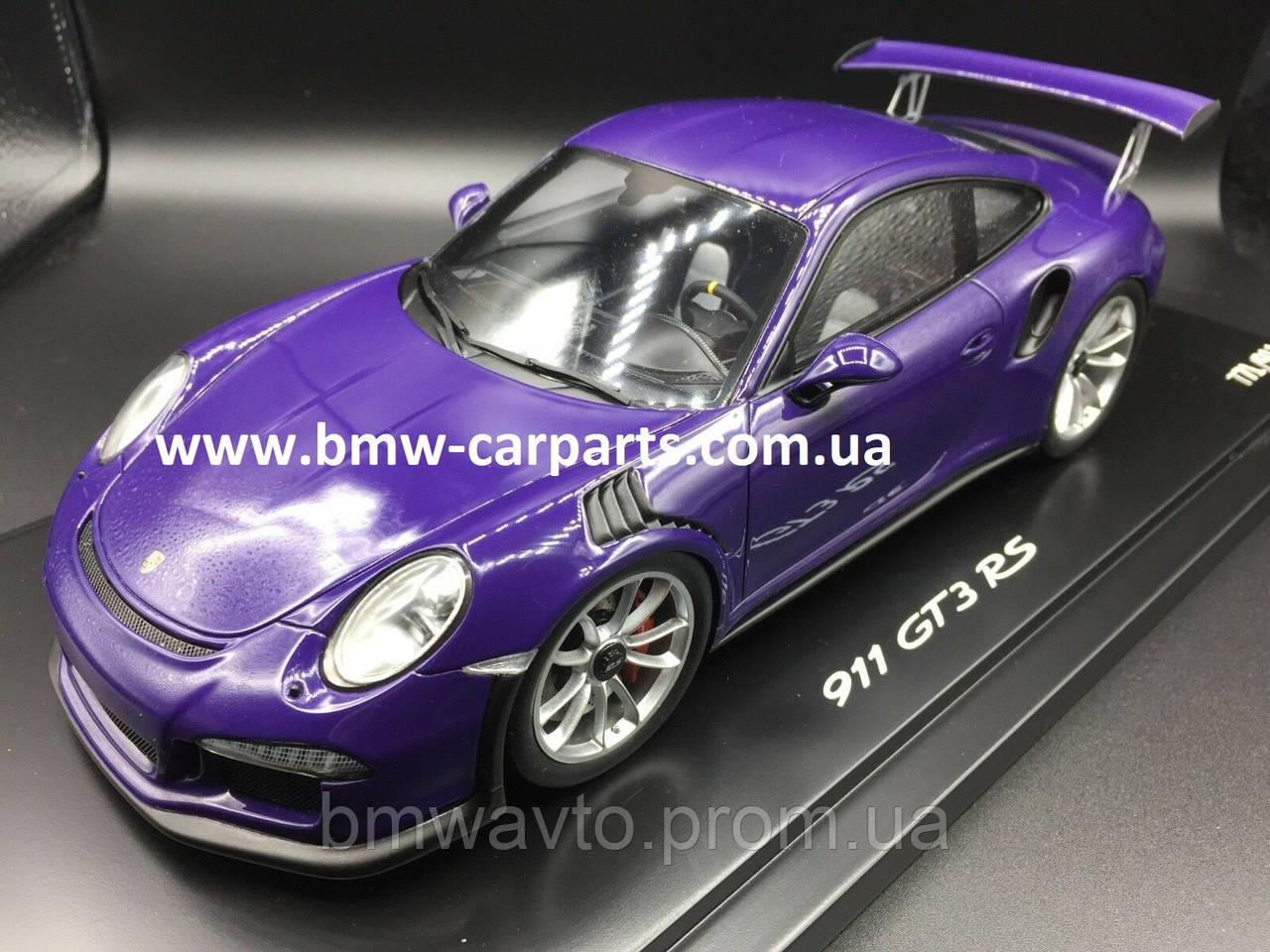 Модель автомобиля Porsche 911 GT3 RS 1:18, Purple, Limited Ed. 911 ex.