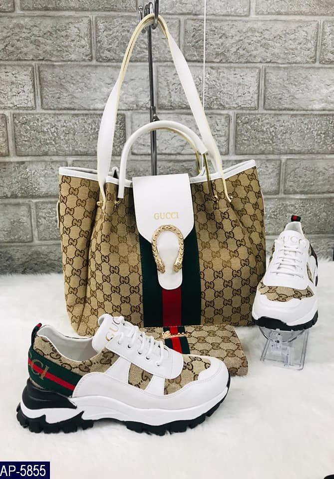 Кроссовки женские Gucci Турция Эко-кожа Высокое качество Износостойкая подошва под заказ 5-10 дней