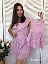 Хлопковое летнее платье для мамы и дочки 51md29, фото 2