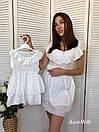 Хлопковое летнее платье для мамы и дочки 51md29, фото 3