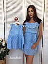 Хлопковое летнее платье для мамы и дочки 51md29, фото 4