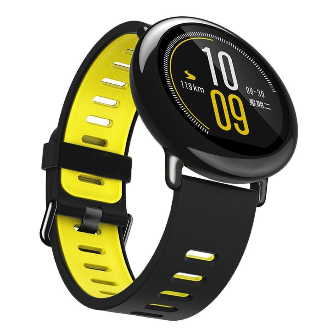 Amazfit Pace / Stratos / Stratos 2 Ремешок Black with yellow для смарт часов, ширина - 22 мм.
