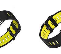 Amazfit Pace / Stratos / Stratos 2 Ремешок Black with yellow для смарт часов, ширина - 22 мм., фото 4