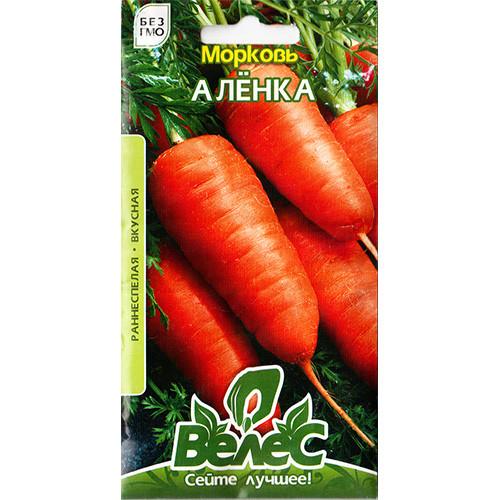 """Насіння моркви середньостиглої, смачною """"Оленка"""" (3 р) від ТМ """"Велес"""""""