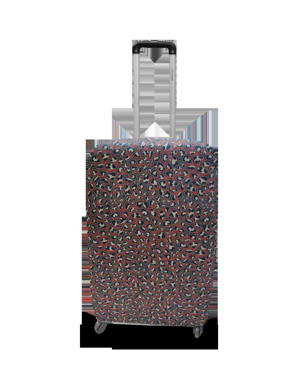 Чехол для чемодана Coverbag неопрен  S жаккард камни красный