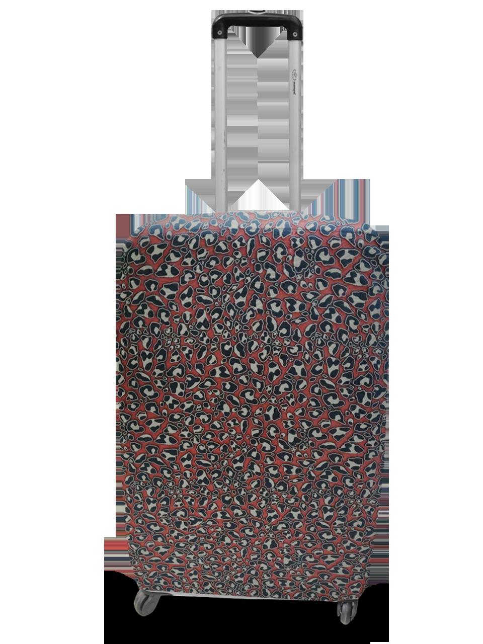 Чехол для чемодана Coverbag неопрен  L жаккард камни красный