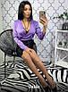 Шелковая женская блуза на запах в расцветках 16rz211, фото 6