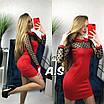 Приталенное платье с вставками сетки в горошек 52ty2394, фото 2