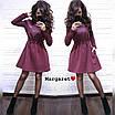Теплое платье с пышной юбкой и длинным рукавом 9ty2405, фото 3