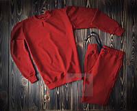 Червоний чоловічий спортивний костюм без принта