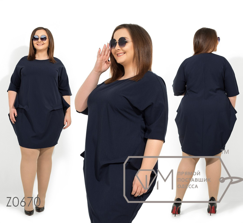 Платье-кокон в больших размерах с рукавом 3/4 1uk1417