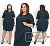 Платье-кокон в больших размерах с рукавом 3/4 1uk1417, фото 4
