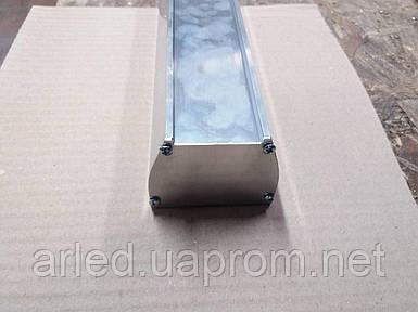Алюминиевый не анодированный профиль для светодиодной алюминиевой платы или ленты.