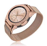 Миланский сетчатый ремешок для часов Samsung Galaxy Watch 42 mm (SM-R810) - Rose Gold