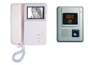 Видеодомофон видеозвонок SEKO - DF-926F1(out2). Черно белый. Видеодомофон с трубкой.