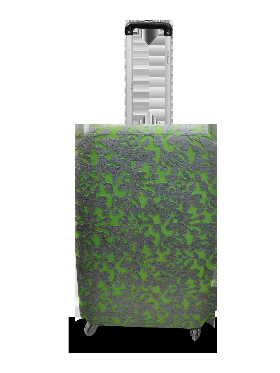 Чехол для чемодана Coverbag  неопрен  M жаккард узор салатовый