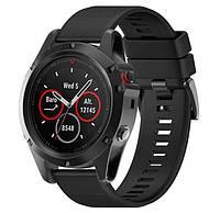Силиконовый ремешок Primo для часов Garmin Fenix 3 / 3HR / Fenix 5X / 6X - Black