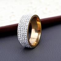 Кольцо, ювелирная бижутерия  с камнями, размер 17