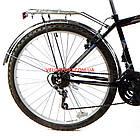 Дорожный велосипед Mustang Upland 26 дюйма черно-синий, фото 6