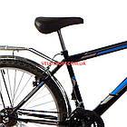 Дорожный велосипед Mustang Upland 26 дюйма черно-синий, фото 4