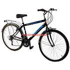 Дорожный велосипед Mustang Upland 26 дюйма черно-синий, фото 2