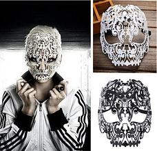 Женская карнавальная маска, Изящная металлическая маска на Хэллоуин, фото 3