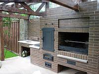 Садовая печь-барбекю