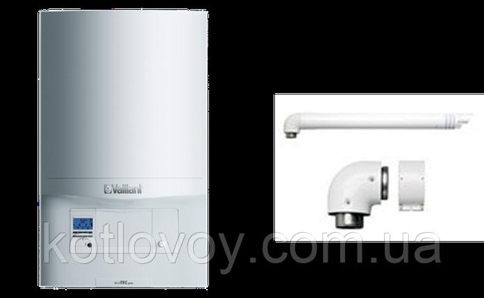 Газовый настенный конденсационный двухконтурный котел Vaillant ecoTEC pro VUW INT 346 /5 +комплект труба  , фото 2