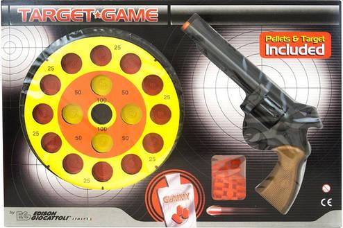 Пистолет EDISON Target Game 28см 8-зарядный с мишенью и пульками (485/22) ED-0485220, фото 2