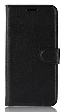 Кожаный чехол-книжка для Nokia 2.1 черный