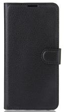 Кожаный чехол-книжка для Nokia 7.1 черный