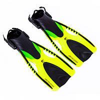 Ласти регульовані для плавання DeepShark жовті F88