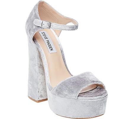 f0b76ddc8f65 Женские сандали Steve Madden Bonita Platform Sandal Silver Velvet