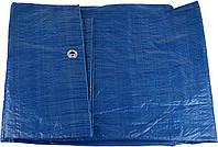 Тент тарпауліновий універсальний  5х6 м синій (55 г/кв.м.) (10)