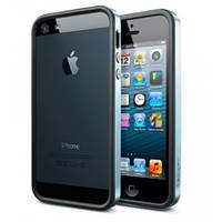 Бампер SGP Neo Hybrid EX Slim Black/Blue для iPhone 5/5S