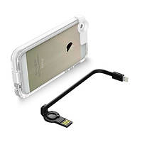 Чехол с USB кабелем светящийся CONNECT для iPhone 5/5S Черный