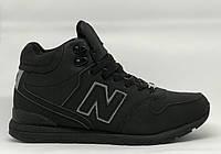 Ботинки мужские зимние New B 16073_1 All black черные реплика