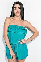 Комбинезон женский с открытыми плечами  81P1211 (Лазурный)