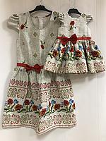 Платья на маму и доченьку в укр стиле
